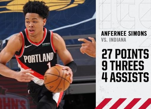 Anfernee Simons vs Pacers